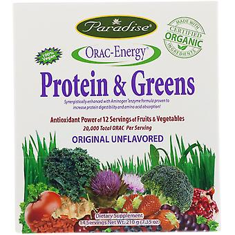 Paradise Herbs, ORAC-Energy, Protein & Greens, 14 Packets, 0.53 oz (15 g)