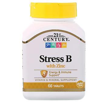 21ème siècle, Stress B avec zinc, 66 comprimés