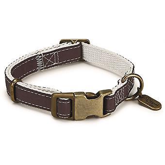 Designed By Lotte Nylon Collar - Virante Brown - 15mm x 26- 40cm