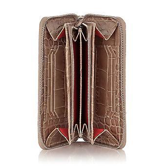 Serengeti Croc Leather Zipped Accordion Wallet