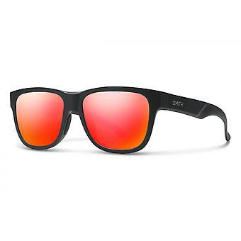 Zonnebril Unisex Lowdown Slim 2 mat zwart/rood