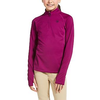 Ariat Lowell 2.0 Youth 1/4 Zip Long Sleeve Baselayer - Imperial Violet