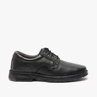 Hush Puppies Outlaw Ii Mens Leather Shoes Black