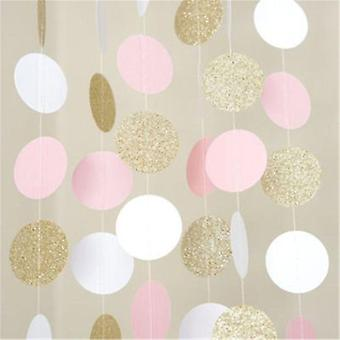 20 kpl 2m Glitter Circle Polka Dots-Happy Birthday Party Lelut Baby Hat Lahja