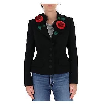 Dolce E Gabbana F28rlzfurfon0000 Frauen's Schwarz Polyester Blazer