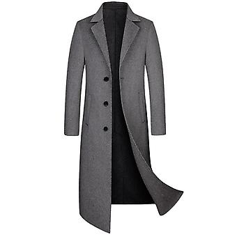 Men's Wool Cashmere Blend Overcoat Dress Coat