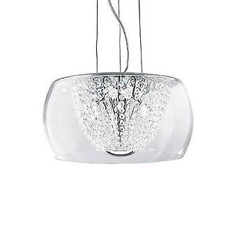 6 Light Small Ceiling Pendant Chrome, G9