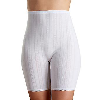 Slenderella VUW808 Women's Vedonis White Cotton Thermal Knit Long Pantee Short