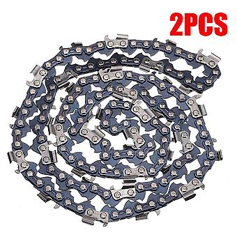 "2pcs/set 20"" Chainsaw- Saw 76 Drive Links Replacement Mill Ripping Chain,"