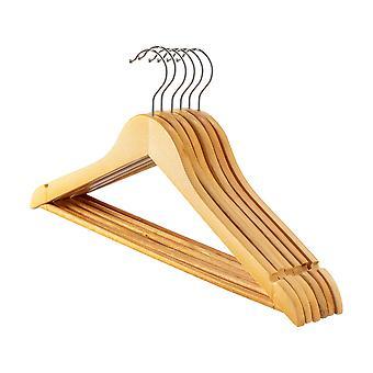Natural Wooden Clothes / Coat Hanger / Hangers - Pack of 20