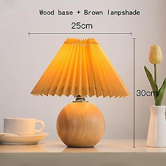 Korean Pleated Table Lamp Ins Diy Ceramic Table Lamps  Cute Lamp With Tricolor Led Bulb Beside Lamp
