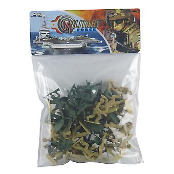 Military Toy Soldiers in a Bag