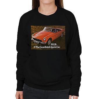 MG Den Store Britiske SportsBil Britiske Motor Heritage Kvinner&Apos;s Sweatshirt