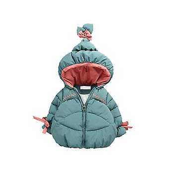 Winter Warm Baby Girls Cute Hat Cotton-padded Jacket