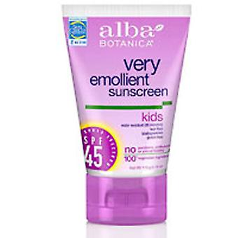 Alba Botanica Sunscreen For Kids SPF 45, SPF30+ 4 oz