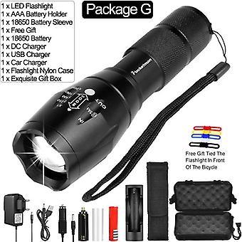 Ultra Bright 12000 Lm Led Flashlight Lantern Led Torch T6/l2/v6 5-switch Modes