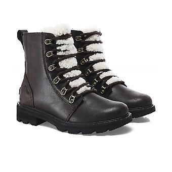Sorel Lennox Leather Lace Cozy Boots