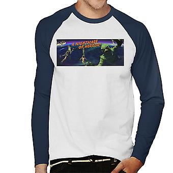 Creature From The Black Lagoon Nightmare Horror Men's Baseball Long Sleeved T-Shirt