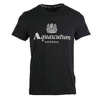 Aquascutum Griffin Logo Musta T-paita