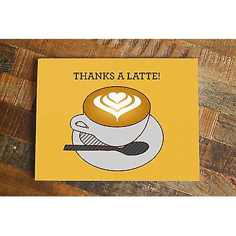 """thanks A Latte"" - Thank You Card"