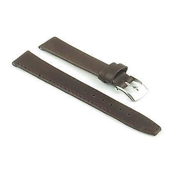 Strapsco mulheres faixa de relógio de couro fino