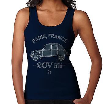 Citroen 2CV Drivers Club Paris France Naisten liivi