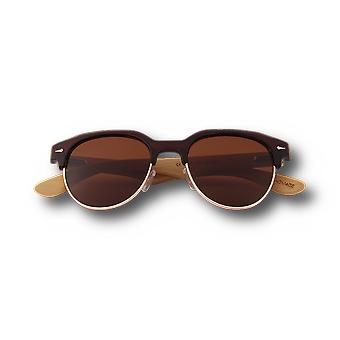 Lunettes de soleil Retroshade Real Bamboo Vintage Browline Style Retroshade