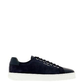 Salvatore Ferragamo 686300 Herren's Blaue Leder Sneakers