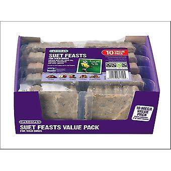Gardman Suet Feast Value Pack x 10 A04118D