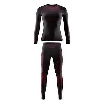 Männer-Frauen Winter Gear Ski Thermal Unterwäsche Sets, Langarm Top Sport
