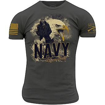 Grunt Style USN - Semper Fortis T-Shirt - Gray