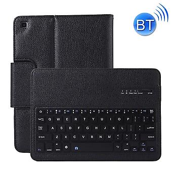 SA720 قابل للفصل لوحة المفاتيح بلوتوث + الليتشي نسيج PU غطاء واقية الجلود مع حامل لغالاكسي تاب S5e 10.5 T720/T725 (أسود)