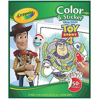 Crayola 04-0544-0-001 كتاب التلوين، لعبة متعددة قصة 4