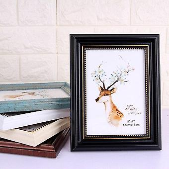 Vintage Wooden Photo Frame - Retro Decor