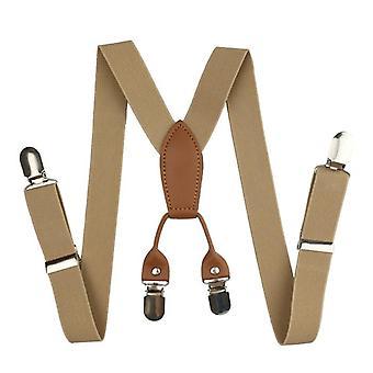 Bretelles en cuir pour enfants, accolades élastiques