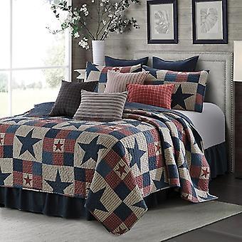 3Pcs Bedspread Patchwork Mountain Cabin Gray Modern King/Queen/Twin Quilt