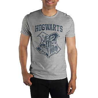 Harry potter hogwarts crest quattro case grifondoro slytherin hufflepuff ravenclaw uomo t-shirt grigia