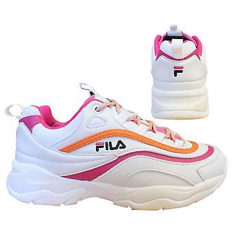 Fila Ray Cb Low White Pink Lace up عارضة الرياضة المدربين النساء 1010764 91H B0C