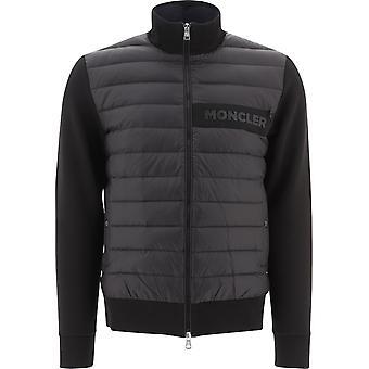 Moncler 8g52200809l8999 Hombres's chaqueta exterior de nylon negro