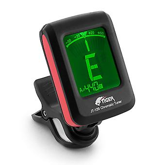Tiger chromatic guitar tuner - easy to use highly accurate clip-on tuner - suitable for guitar/bass/