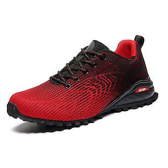 Zapatos de senderismo transpirables para hombre K902 Rojo