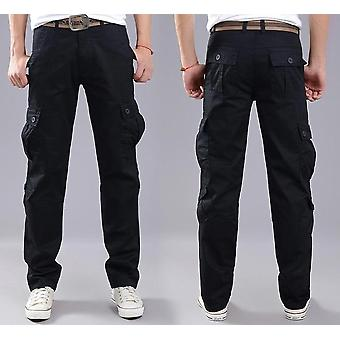 Many Pockets Stretch Flexible  Trouser