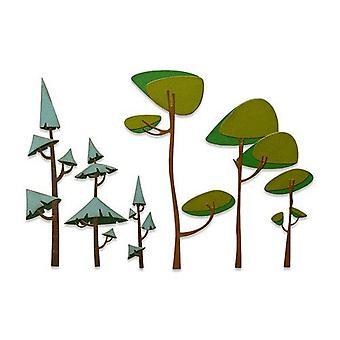 Sizzix Thinlits Die Set - 6pk Funky Trees 665217 Tim Holtz