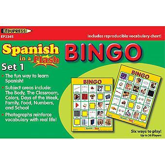 Espagnol dans un bingo flash, set 1