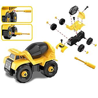 Montessori Diy Blocks, Screw Nut, Assembly Cement Truck - Vehicle Model Toy