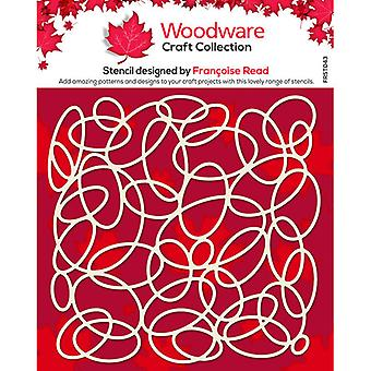 Woodware 6 x 6 Stencil - Oval Mesh