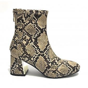 Women's Shoes Ankle Boot Gold&gold Tc 60 In Faux Leather Print Beige Python Rock D20gg17