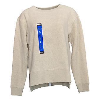 Kirkland Signature Women's Fleece Crewneck Sweatshirt Beige