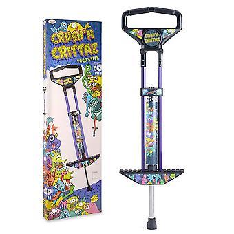 Toyrific crush n' crittaz pogo stick for kids crush'n crittaz