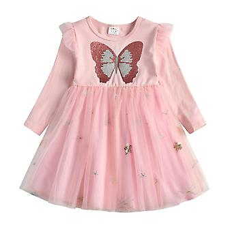 Autumn- Butterfly Sequins, Long-sleeve Princess, Party Dresses